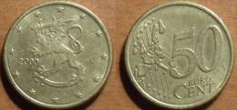 2000 - Finlande - Finland - 50 CENT EURO, 1st Card, 1st Type, KM 103 - Finlande