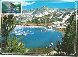 ANDORRE.le Grand Lac Des Pessons. Une Carte-maximum - Geografia