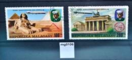 mg0106 75 Jahre Zeppelin, Luftschiff, Pyramiden, Sphinx, Madagaskar 1976