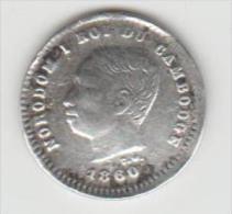 1 PIÈCES DU CAMBODGE 25 CENTIMES 1860 ARGENT - Cambodia