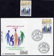 FDC Perso +Timbre Algérie 2014 + Notice - Journée Nationale Des Personnes Handicapées.(02 Mars 2014)N°y/t: 1680 - Algeria (1962-...)
