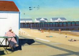 Postcard - Southwold Pier & Beach, Suffolk. S46