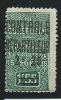 ALGERIE: **, COLIS POSTAUX, N°37a, Percé (épingle), B - Paquetes Postales