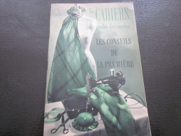 1953 Vintage Les Cahiers Du Jardin Des Modes Couture Broderie Dentelle Tricot Conseils De La Premiere Loisirs Créatifs - Moda