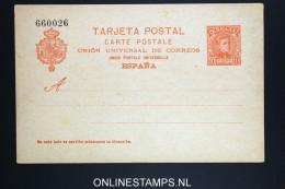 Spain: Postcard Tarjeta Postal Not Used Brownish Paper Mi P 42 - Enteros Postales