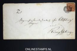 Danmark: Cover With 4 Skilling Brown  Ribe / Ringkjøbing Very Nice Waxseal - 1851-63 (Frederik VII)