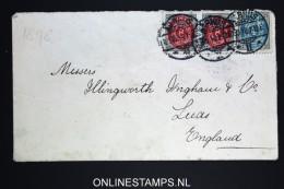 Danmark:  Cover Mixed Stamps 1898 Aarhus To Leeds UK, Back Is Damaged - 1864-04 (Christian IX)