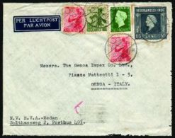 #27188 - OLANDA - COLONIE OLANDESI - INDIE OLANDESI - Da MEDAN, Per Genova, Affr. Con Yv. N. 315+316+261+295 - Netherlands Indies