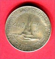 400 SOLES BATAILLE AYACUCHO  1976  (KM  270 )  TTB/SUP  38 - Pérou