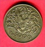5000 ROUPIES ORANG OUTANG  1974   (KM 40)  TTB  50