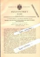 Original Patent - A. Crémer-Pirnay In Hodimont - Verviers , 1882 , Speise-Apparat Für Spinnerei !!! - Verviers