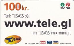 Greenland, PRE-GRL-1014, 100 Kr, Www.tele.gl, Whaletail, 2 Scans   Expiry 16-04-2011. - Groenlandia
