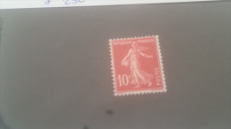 LOT 247263 TIMBRE DE FRANCE NEUF* N�138C VALEUR 230 EUROS ECARLATE