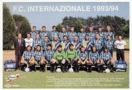 SQUADRA F.C. INTERNAZIONALE - CAMPIONATO CALCIO 1993/94 - Vedi Retro - Fútbol