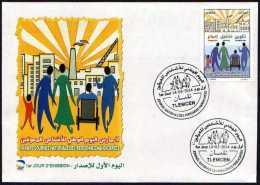 FDC   Algérie + Notice - Journée Nationale Des Personnes Handicapées.(02 Mars 2014)N°y/t: 1680 - Algérie (1962-...)