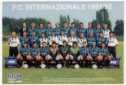 SQUADRA F.C. INTERNAZIONALE - CAMPIONATO CALCIO 1991/92 - Vedi Retro - Fútbol