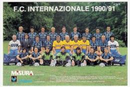 SQUADRA F.C. INTERNAZIONALE - CAMPIONATO CALCIO 1990/91 - Vedi Retro - Fútbol