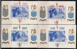 1942   YVERT  Nº  22 / 25 ,   Nº BL18A / BL 21A - Blokken 1924-1960