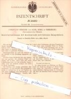 Original Patent - C. Werner Und K. Berg In Friedberg , Grossherzogth. Hessen , 1883 , Feuerung , Heizungsbau !!! - Friedberg