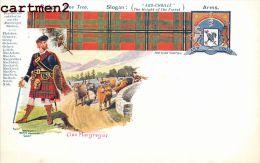 BADGE WILD  MYRTLE CLAN MAC ARTHUR CLAN TARTAN SCOTTISH ARMS SCOTLAND ILLUSTRATOR W And A.K. Johnston - Scotland