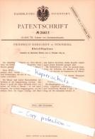 Original Patent - Friedrich Ehrhardt In Nürnberg , 1883 , Bleistiftanspitzer !!! - Andere Sammlungen