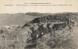 GUERRE 14-18 Haute Alsace - Vallée De La Largue Territtoriaux Aux Environs De LARGITZEN - Guerre 1914-18