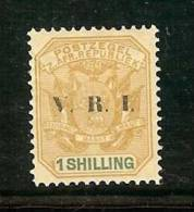 ZUID AFRIKAANSE REPUBLIEK 1900 Hinged Stamp(s)  1 SH Ochre (overprint V.R.I.) Sacc Nr. 239 - South Africa (...-1961)