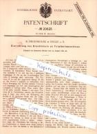 Original Patent - R. Degenkolbe In Halle A. S. , 1881 , Bäckerei !!!
