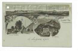 Hohenpeissenberg GRUSS VON BAYERN RIGI-5 August 1901- - Weilheim