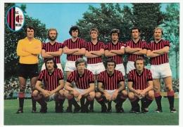 SQUADRA A.C. MILAN - CAMPIONATO CALCIO 1974 - 1975 - Vedi Retro - Fútbol