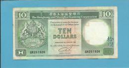 HONG KONG - 10 DOLLARS - 1991 - P 191.c - 2 Scans - Hongkong