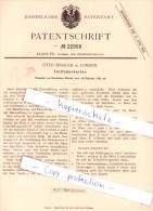 Original Patent - Otto Bussler In London , 1882 , Füllfederhalter , Federhalter !!! - Schreibgerät