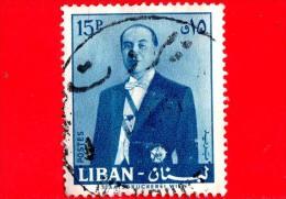 LIBANO - Usato - 1960 - Presidente Fuad Chehab - 15 - Libano