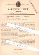 Original Patent - Friedrich Soennecken In Bonn , 1882 , Tintenfaß !!! - Tintenfässer