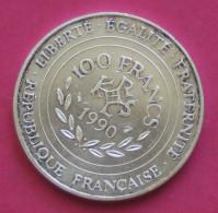 """Pièce De 100 Francs 1990 """"Charlemagne"""" - Argent 900/1000 - France"""