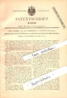 Original Patent - C. Gabriel Und J. Schneider In Eslohe , 1882 , Fabrikation Von Hacken Und Werkzeug !!! - Sonstige