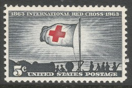 USA. 1963 Red Cross Centenary.  3c MH. SG 1221 - United States