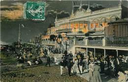 CALVADOS. VITA MONDANA ALLA SPIAGGIA SOTTO IL CASINO. BELLA CARTOLINA DEL 1908 - Francia
