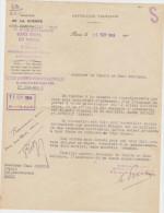 Lot De 2 Courriers De 1918 Et 1920 Du Ministère De La GUERRE Et Du Ministère Des Pensions - Historical Documents