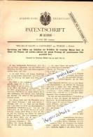Original Patent - Wilhelm Klein In Osthofen B. Worms , 1882 , Vorrichtung Für Preßfilter , Presse !!! - Deutschland