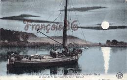 (33) Barsac - Les Coteaux De Sainte Ste Croix Du Mont Et Rive De La Garonne Au Soleil Levant - Bateau Boat - 2 SCANS - France