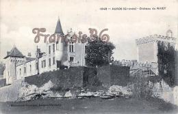 (33)  Auros - Chateau Du Rivet - 2 SCANS - France
