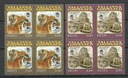 Estland Estonie Estonia 1998-1999 Tallinn Reval Zoo Michel 333 & 340 In 4-block MNH - Estonie