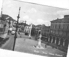 Rovigo Piazza Vittorio Emanuele  Viaggiata Bollo Lire 10 - Rovigo