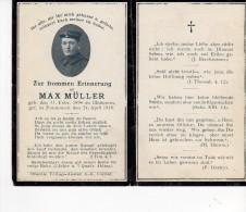 Faire Part De Déces Soldat Née A Illhausern  Alsace  Annexé Par L´allemagne 1918 - Esquela