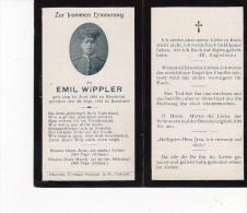 Faire Part De Déces Soldat Née A Biesheim  Alsace  Annexé Par L´allemagne 1915 - Esquela