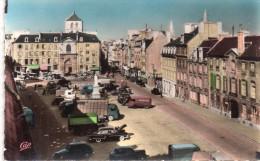 Cpsm  14  Caen , La Place Saint Sauveur Animee , Nombreux Vehicules , Annees 60... - Caen