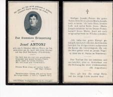 Faire Part De Déces Soldat  Né A  Whir En Plaine  Horbourg Whir 1918  Alsace Annexée - Esquela