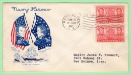 USA SC #791 PR FDC  1937 2c Navy (01-15-1937), CV $8.50 - First Day Covers (FDCs)