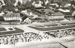 3466 GERMANY NORDSEEHEILBAD CUXHAVEN STRAND HOTEL  AND INSEL CAFFEE POSTAL POSTCARD - Allemagne
